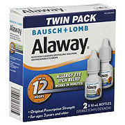 Bausch & Lomb Alaway Original Prescription Strength Allergy Eye Itch Relief Twin Pack