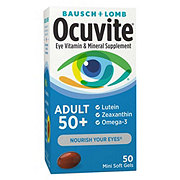 Bausch & Lomb Ocuvite Adult 50+ Eye Vitamin and Mineral Supplement Softgels