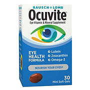 Bausch & Lomb Ocuvite Eye Vitamin and Mineral Supplement Eye Health Formula Softgels