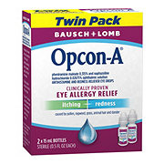 Bausch & Lomb Opcon-A Eye Allergy Relief Twin Pack
