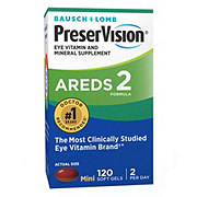 Bausch & Lomb PreserVision Eye Vitamin and Mineral Supplement AREDS 2 Formula Soft Gels
