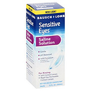 Bausch & Lomb Sensitive Eyes Saline Solution