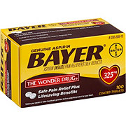 Bayer Aspirin Pain Reliever/Fever Reducer 325 mg Coated Tablets
