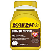 Bayer Aspirin Pain Reliever/Fever Reducer 325 mg Coated Tablets Easy Open Cap