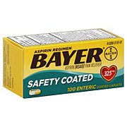 Bayer Aspirin Pain Reliever/Fever Reducer Low Dose 81 mg Enteric Safety Coated Caplets