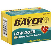 Bayer Aspirin Pain Reliever/Fever Reducer Low Dose 81 mg Enteric Safety Coated Tablets