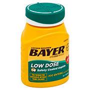 Bayer Aspirin Pain Reliever/Fever Reducer Low Dose 81 mg Enteric Safety Coated Tablets Easy Open Cap