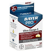 Bayer pro ultra omega 3 shop fish and flax oil at heb for Pro omega fish oil