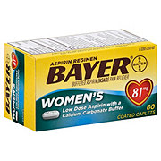 Bayer Women's Aspirin Pain Reliever/Fever Reducer Low Dose 81 mg Coated Caplets