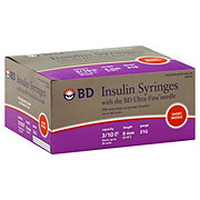 BD Ultra-Fine II Insulin Syringes Short Needle 31 Gauge, 100 CT