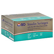 BD Ultra-Fine Insulin Syringes Long Needle 30 Gauge, 100 CT