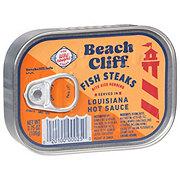 Beach Cliff Fish Steaks in Louisiana Hot Sauce