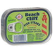 Beach Cliff Fish Steaks in Soybean Oil with Chilies