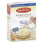 Beech-Nut Homestyle Rice Baby Cereal Box
