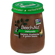 Beech-Nut Naturals Stage 2 Banana Blueberry & Green Beans Baby Food Jar