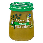 Beech-Nut Naturals Stage 2 Peas Green Beans & Asparagus Baby Food Jar