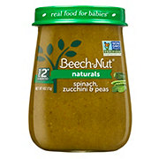 Beech-Nut Naturals Stage 2 Spinach Zucchini & Peas Baby Food Jar
