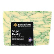 Belton Farm's Sage Derby Cheese
