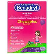 Benadryl Children's Allergy Relief Chewable Grape Tablets