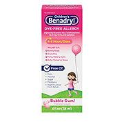 Benadryl Children's Dye Free Allergy Liquid Bubble Gum