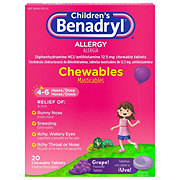 Benadryl Children's Grape Allergy Chewables