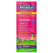 Benadryl -D Children's Allergy And Sinus Grape