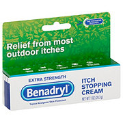 Benadryl Topical Analgesic Extra Strength Itch Stopping Cream