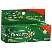 Berocca Orange Flavor Mental Sharpness + Physical Energy Effervescent Tablets