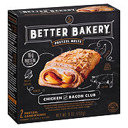 Better Bakery Pretzel Melts Chicken And Bacon Club