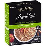 Better Oats Steel Cut Apples & Cinnamon Instant Oatmeal