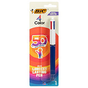 Bic 4 Color Medium/Fine Assorted Retractable Ball Point Pen