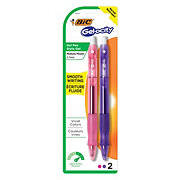 BIC Gel-Ocity Original Fashion Retractable Gel Pen, Assorted Colors