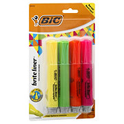 Bic Grip XL Assorted Fluorescent Highlighters