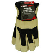 Big Time Products True Grip Grain Cowhide with Mesh Back Glove