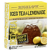 Bigelow Half and Half Iced Tea and Lemonade Family Size Bags