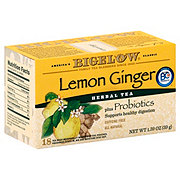 Bigelow Lemon Ginger Herb Plus Probiotics Tea Bags