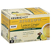 Bigelow Lemon Ginger Herbal Tea Single Serve K Cups