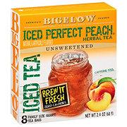 Bigelow Perfect Peach Herb Iced Tea Bags Quart Size
