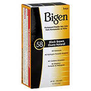 Bigen Black Brown 58 Permanent Powder Hair Color