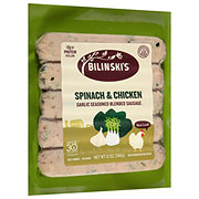Bilinski's Spinach and Garlic Chicken Sausage