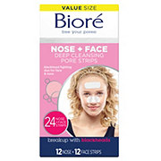 Biore Deep Cleansing Pore Strips 12 Nose & 12 Face