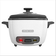 Black & Decker White 16-Cup Rice Cooker with Basket