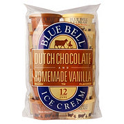 Blue Bell Dutch Chocolate and Homemade Vanilla Flavored Ice Cream Cups