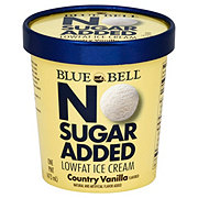 Blue Bell No Sugar Added Country Vanilla Ice Cream