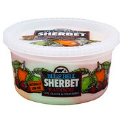 Blue Bell Strawberry, Orange And Lime Rainbow Sherbet