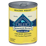 Blue Buffalo Healthy Weight Homestyle Chicken Dinner with Garden Vegetables Dog Food, Adult
