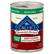 Blue Buffalo Homestyle Recipe Grain Free Beef Dinner with Garden Vegetables Dog Food