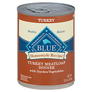 Blue Buffalo Homestyle Recipe Turkey Meatloaf Dinner with Garden Vegetables Dog Food, Adult