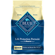 Blue Buffalo Life Protection Formula Chicken & Brown Rice Recipe Dog Food, Senior