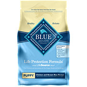 Blue Buffalo Lifetime Protection Formula Chicken & Brown Rice Recipe Dog Food, Puppy
